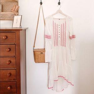 Free People bohemian white dress